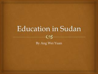 Education in Sudan