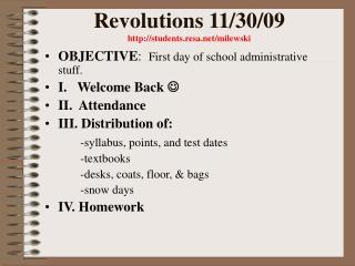 Revolutions 11