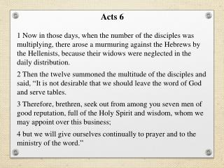 Acts  6