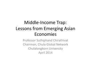 Middle-Income Trap: Lessons from Emerging Asian Economies