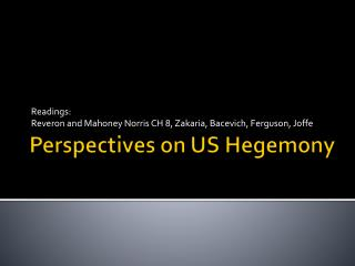Perspectives on US Hegemony