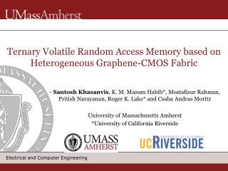 Ternary Volatile Random Access Memory based on Heterogeneous Graphene-CMOS Fabric