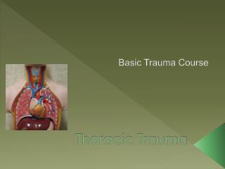 Thoracic Trauma