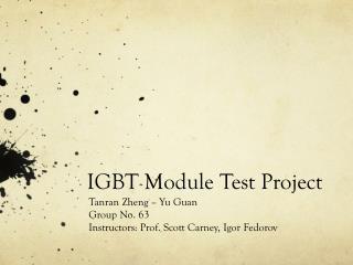 IGBT Module Test Project