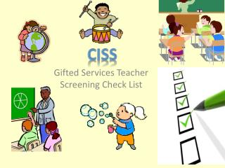 Gifted Services Teacher Screening Check List