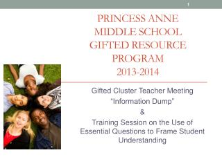 Princess Anne  Middle School  Gifted Resource  Program 2013-2014