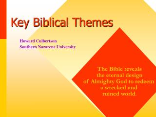Key Biblical Themes