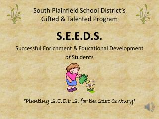South Plainfield School District's Gifted & Talented Program