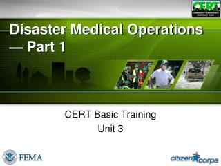 Disaster Medical Operations  —  Part 1