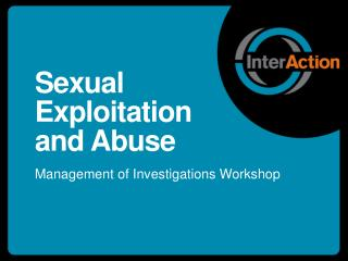 Sexual Exploitation and Abuse