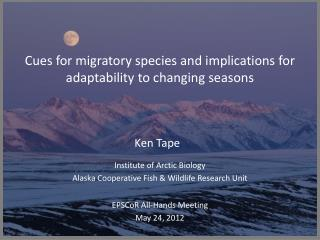 Cues for migratory species and implications for adaptability to changing seasons