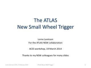 The ATLAS  New Small Wheel Trigger