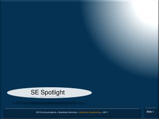 SE Spotlight