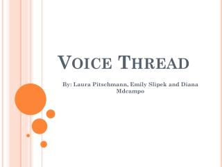 Voice Thread