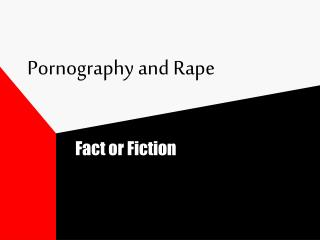 Pornography and Rape