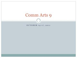 Comm  Arts 9