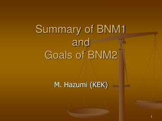 summary of bnm1 and goals of bnm2