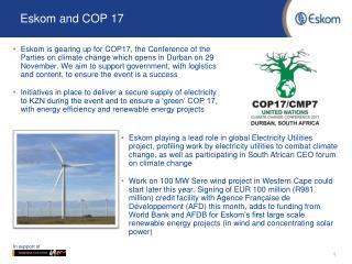 Eskom and COP 17