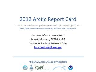 2012 Arctic Report Card