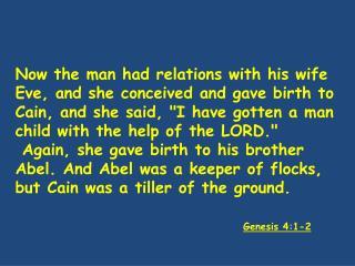 Genesis 4:1-2