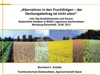 Bernhard  C. Schäfer Fachhochschule Südwestfalen, Agrarwirtschaft Soest