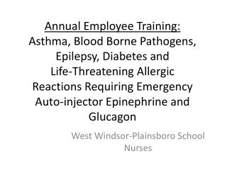 West Windsor-Plainsboro School Nurses