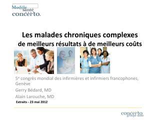 Les malades chroniques complexes                de meilleurs résultats à de meilleurs coûts