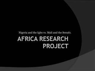 Africa  Research Project