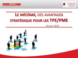 Le mécénat,  des avantage s stratégique pour les TPE/PME