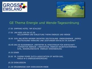 GE Thema Energie  und Wende-Tagesordnung