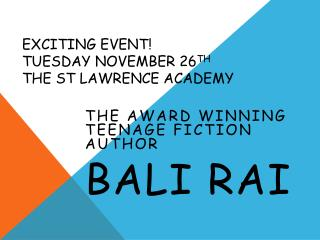 Exciting event!  Tuesday November 26 th the  st lawrence  academy