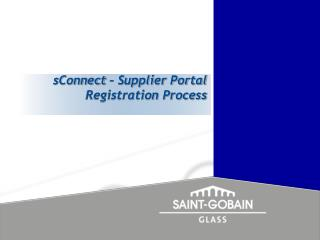 sConnect – Supplier Portal Registration Process
