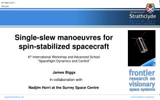 Single-slew manoeuvres for spin-stabilized spacecraft