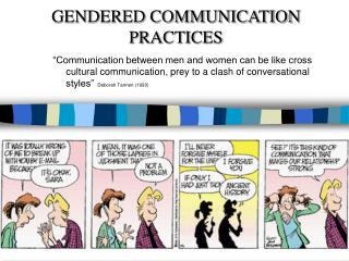GENDERED COMMUNICATION PRACTICES