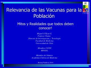 Relevancia de las Vacunas para la Población