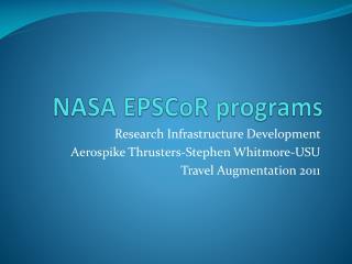 NASA  EPSCoR  programs