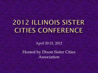 2012 Illinois Sister  Cities Conference