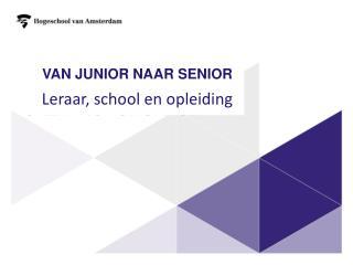 Van junior  naar  senior