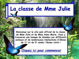 La classe de Mme Julie