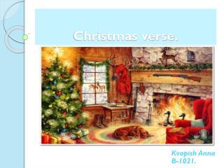 Christmas verse.