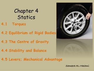 Chapter 4 Statics