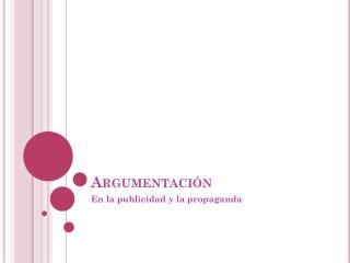 Argumentaci�n
