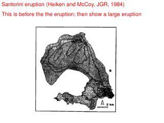 Santorini eruption ( Heiken  and McCoy, JGR, 1984)