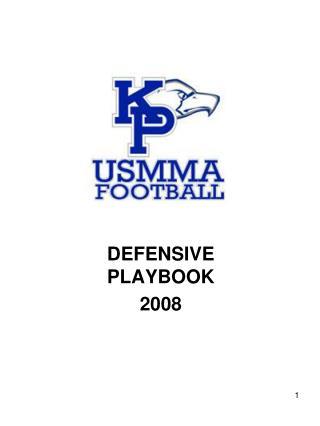 DEFENSIVE PLAYBOOK 2008
