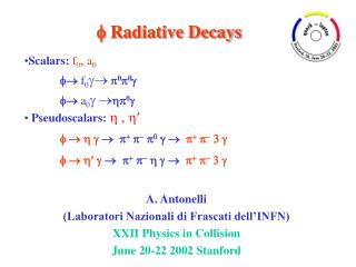 Radiative Decays