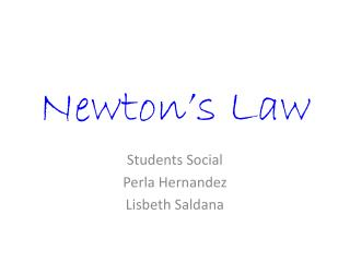 Newton�s Law