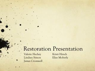 Restoration Presentation