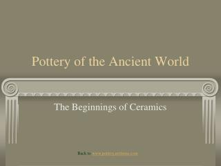 Pottery of the Ancient World