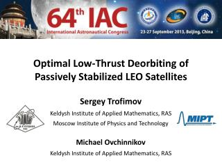 Optimal Low-Thrust Deorbiting of Passively Stabilized LEO Satellites