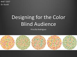 Designing for the Color Blind Audience